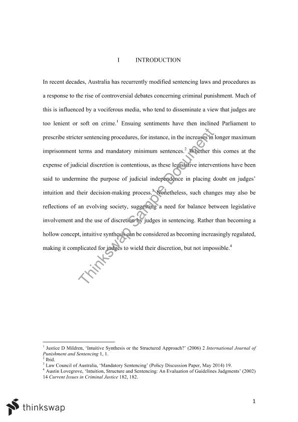 LAWS1022 Research Essay