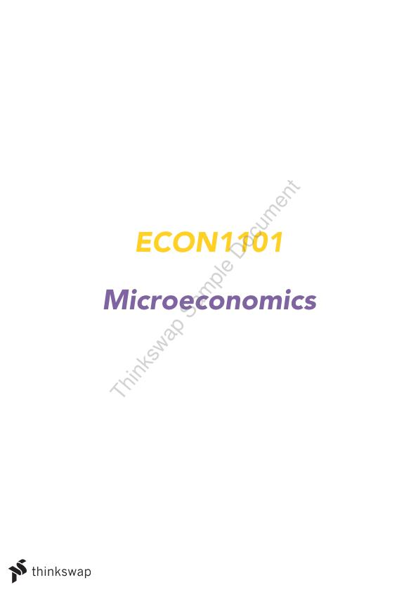 Microeconomics Complete Notes