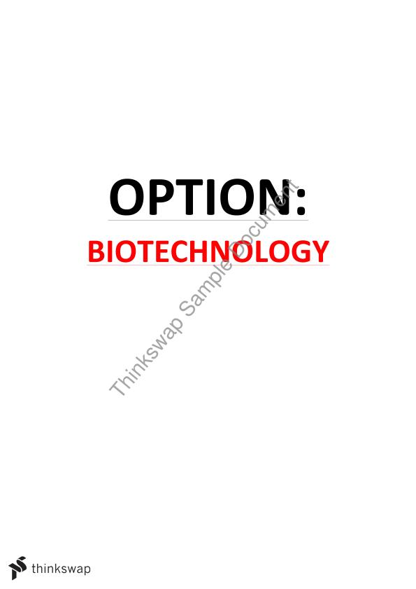 Option: Biotechnology
