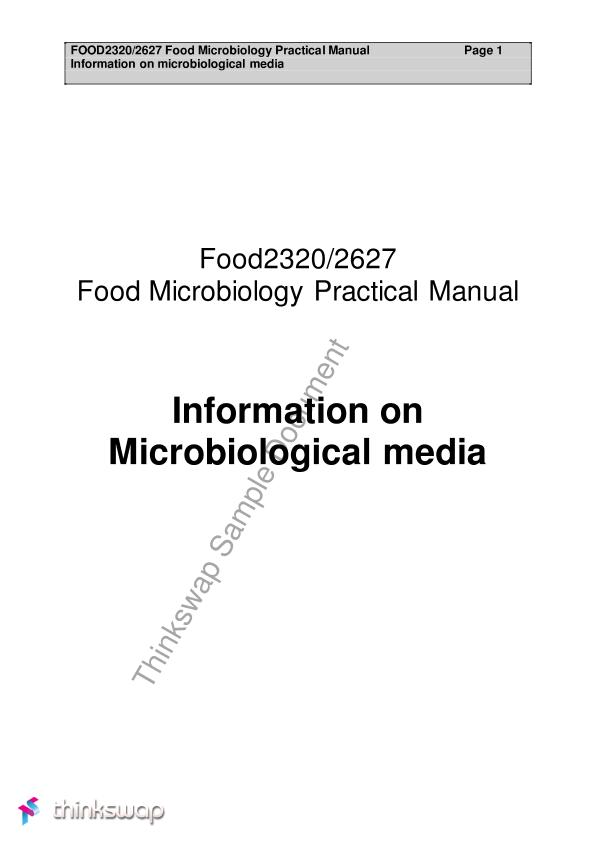 Microbiology topic for research report