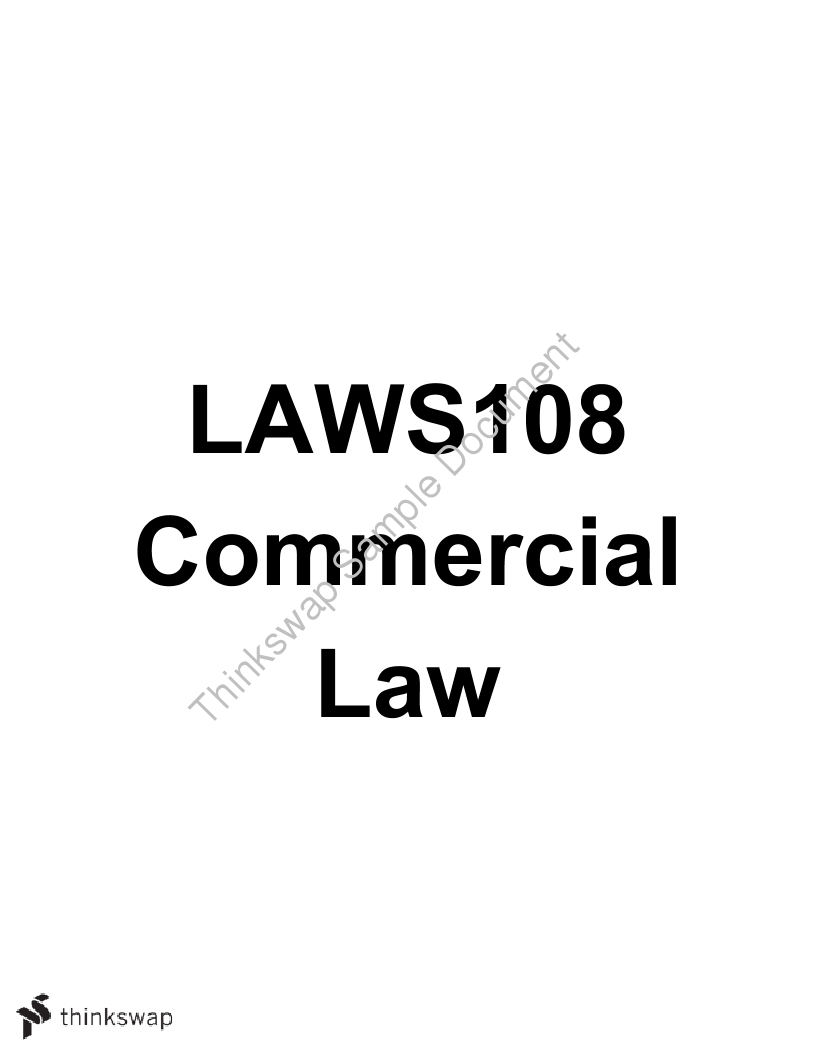 Commercial Law Study Notes