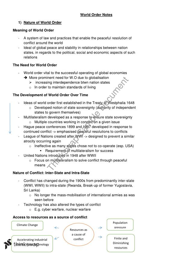 World order essay legal studies