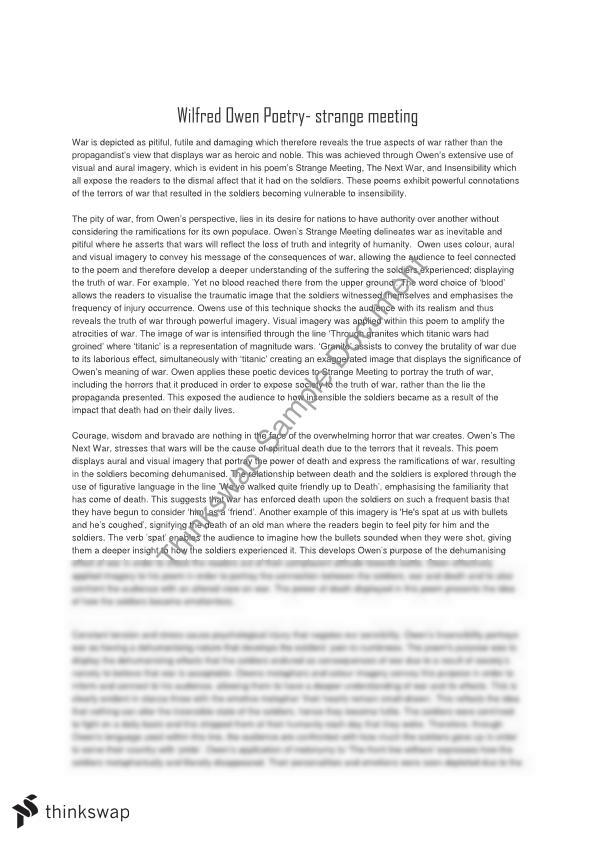 the first world war poetry of wilfred owen english literature essay Wilfred owen speech/essay for module b this student studied: hsc - year 12 - english (standard) this essay/speech is perfect for analysis, has great techniques and quotes from wilfred owen's poems 'dulce et decorum' and 'futility', really good for hsc trials and hsc exams as well as internal assessment task, i got the highest mark in my class with this speech.