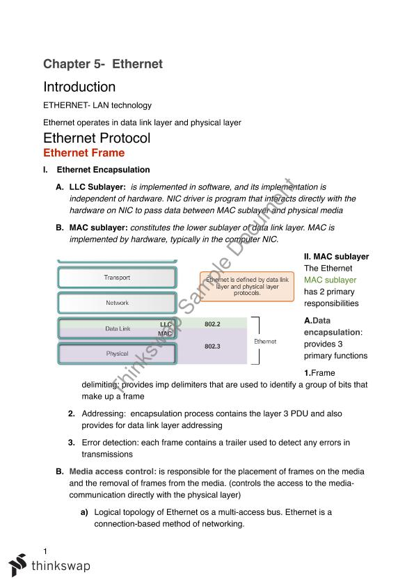 Networking Essentials Cisco Notes