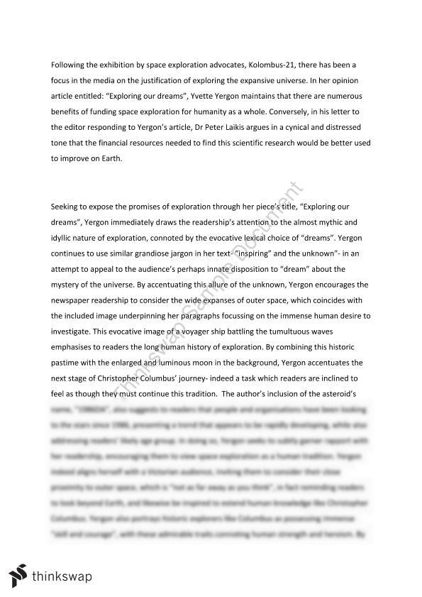 a language analysis essay year vce english thinkswap a language analysis essay