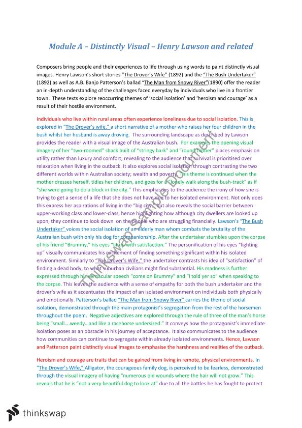 750 word essay on henry lawson distinctively visual The loaded dog henry lawson the short story the loaded dog , written by henry lawson in 1901 displays a significant aspect of distinctively visual through.