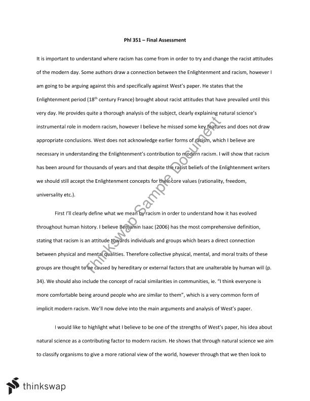 Need Help With Essay Writing Phl Final Essay  The Origin Of Racism  Custom Essays Cheap also Dibs In Search Of Self Essay Phl Final Essay  The Origin Of Racism   Phl  Social  College Essay Example
