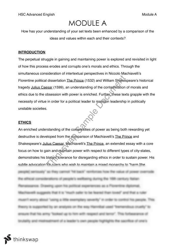 Good Science Essay Topics Module A Essay The Prince And Julius Caesar Year Hsc Module A Essay The  Prince And Natural Disasters Essay also Summer Essay Writing Niccolo Machiavelli Essay Module A Essay The Prince And Julius  What Is Argumentative Essay