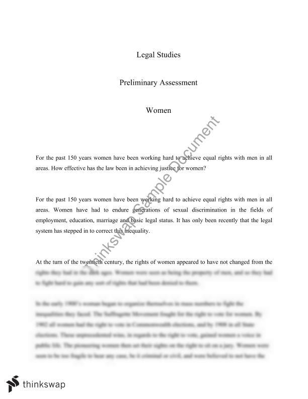 essays on equal rights for women