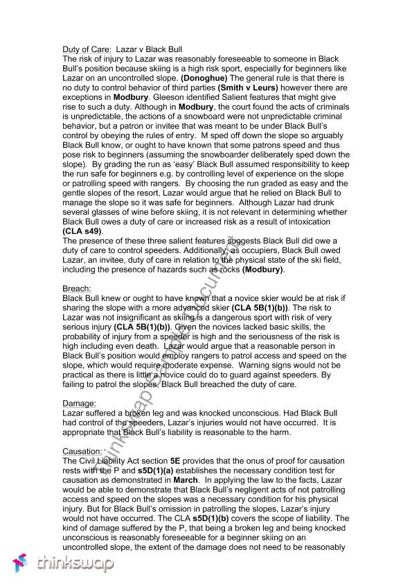 torts essay one Food one engaged in the business of selling or otherwise distributing food products who sells or one sheet - torts torts- attack outline civpro one sheet.