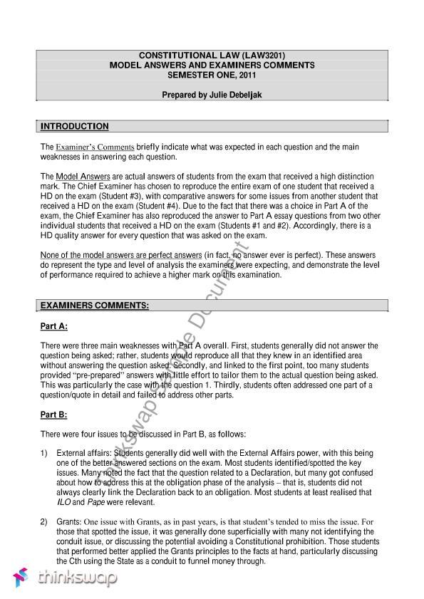 torts essay model answer