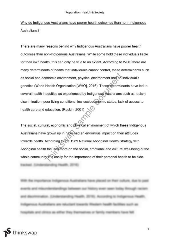 Thesis Example Essay  Proposal Essay Examples also Management Essay Topics Preliminary Essay    Population Health And Society  Essay Research Paper
