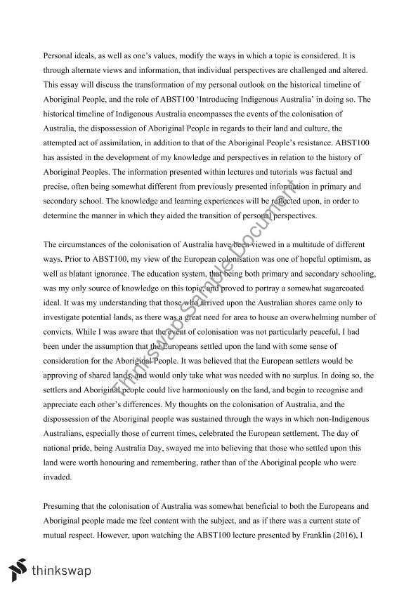 Choosing An Essay Topic Abst Reflective Essay Change Management Essays also Candide Essay Abst Reflective Essay  Abst  Introduction To Australian  Raising Children Essay