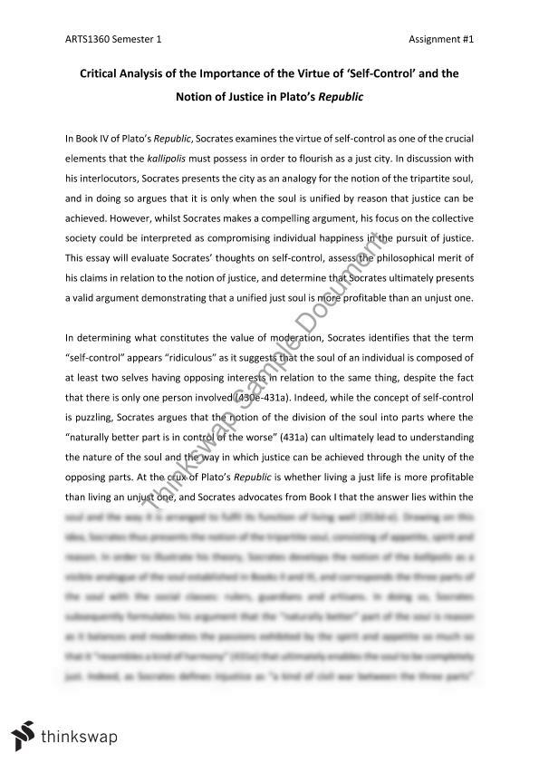 platos republic argumentative essay