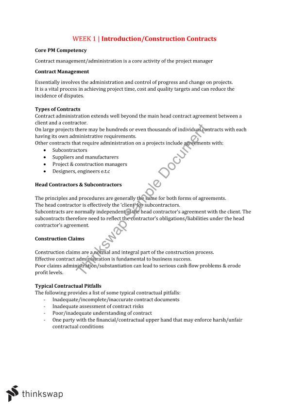 Procurement & Contract Management Final Exam Notes | 16423
