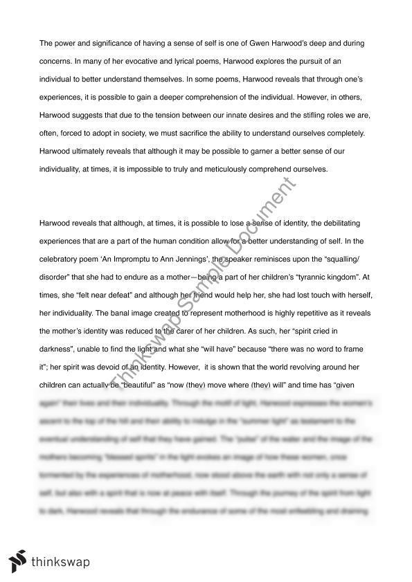 Gwen harwood essays