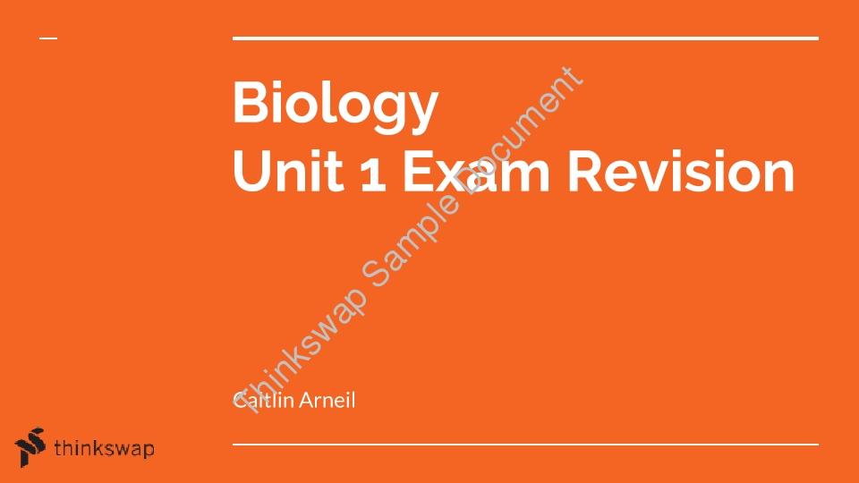 biology unit 5 notes