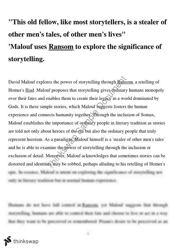 vce ransom essay topics