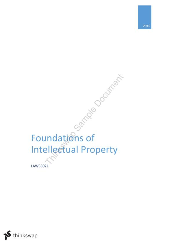 Foundations of Intellectual Property Exam Notes