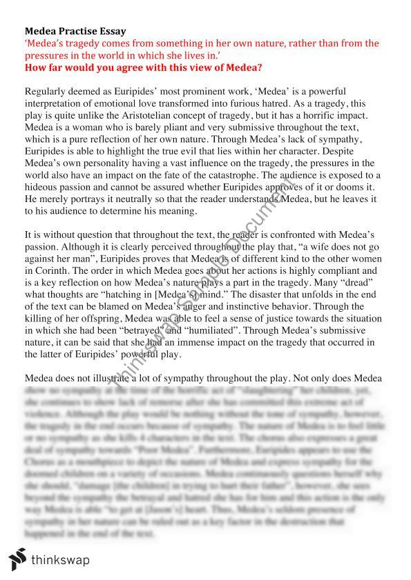 medea text response essay year vce english thinkswap medea essay