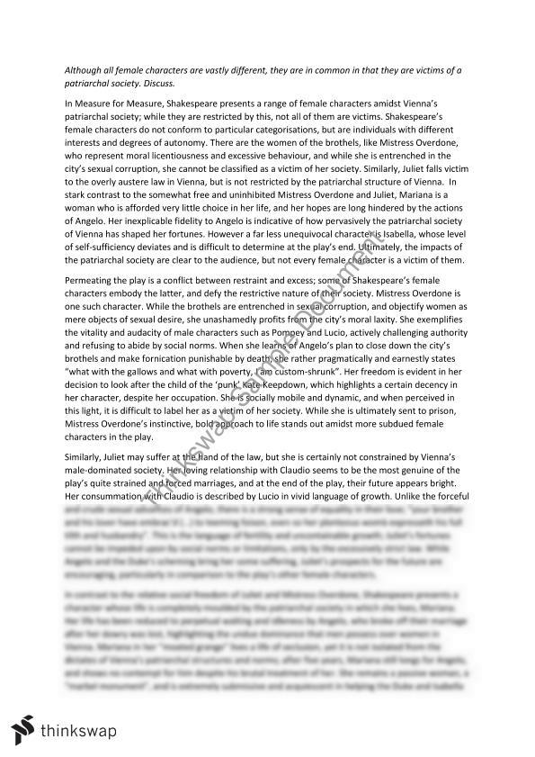 measure for measure essay year vce english thinkswap measure for measure essay
