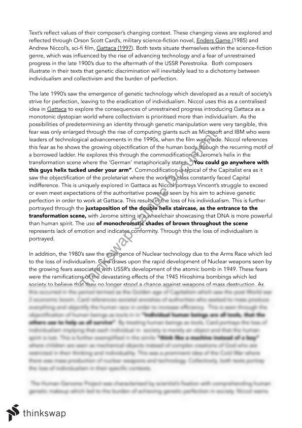 gattaca thesis
