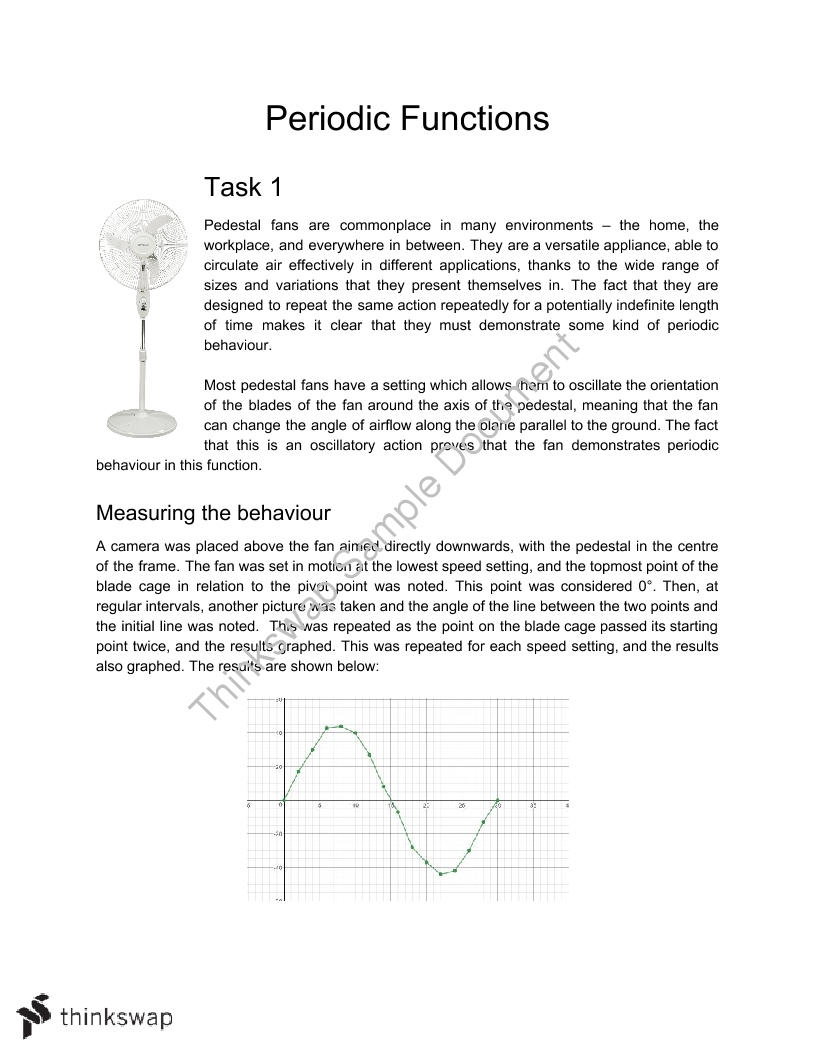 Extended Modelling and Problem Solving task - Periodic