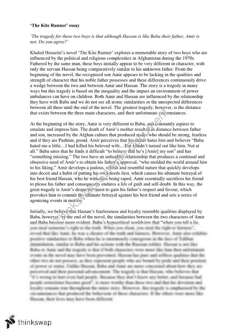 Summary of The Kite Runner by Khaled Hosseini