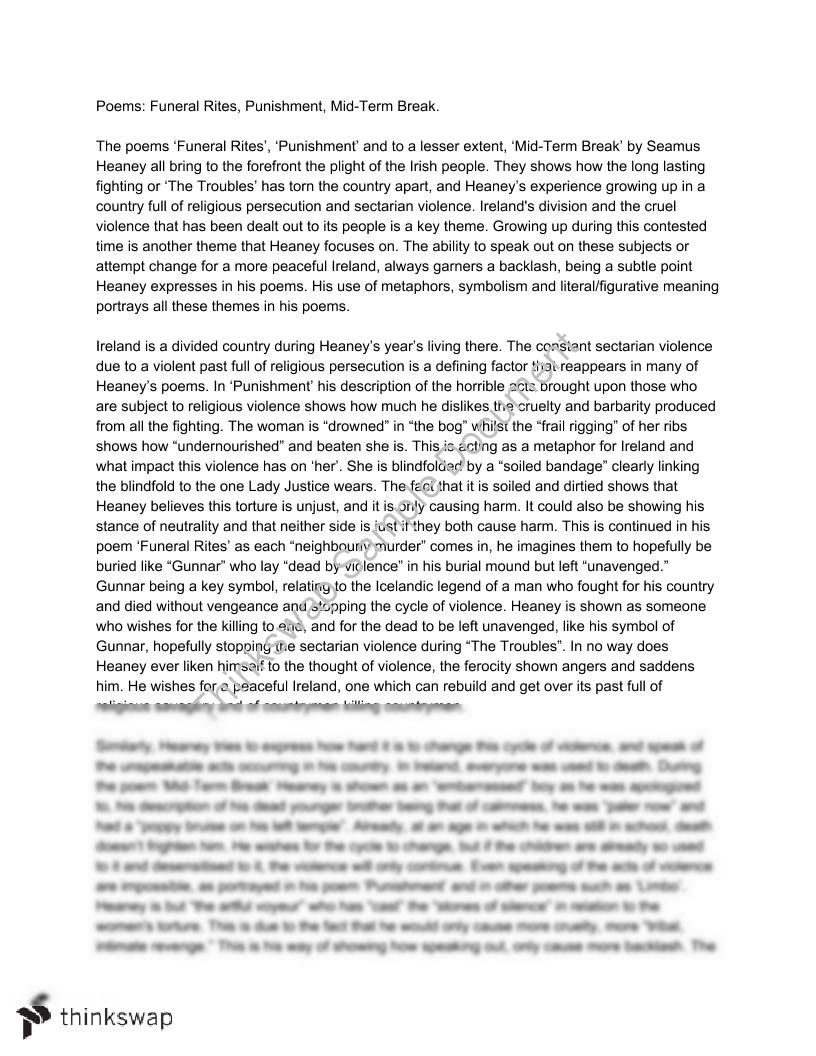 Business Essay Writing Seamus Heaney Poetry Essay Thesis Statement Essays also General Paper Essay Seamus Heaney Poetry Essay  Year  Vce  English Literature  Service Presentation Powerpoint