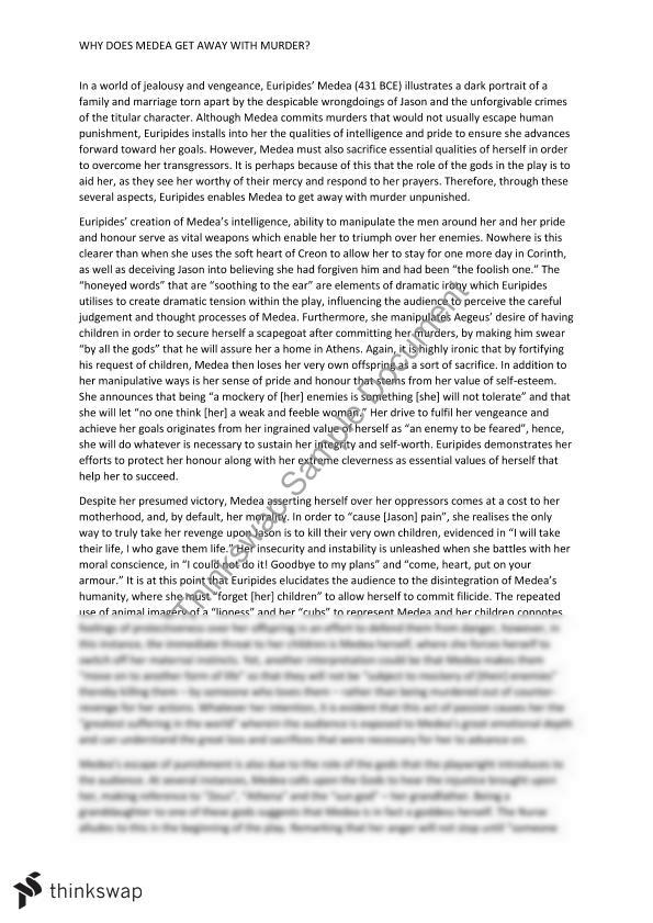 Medea Text Response Essay | Year 12 VCE - English | Thinkswap