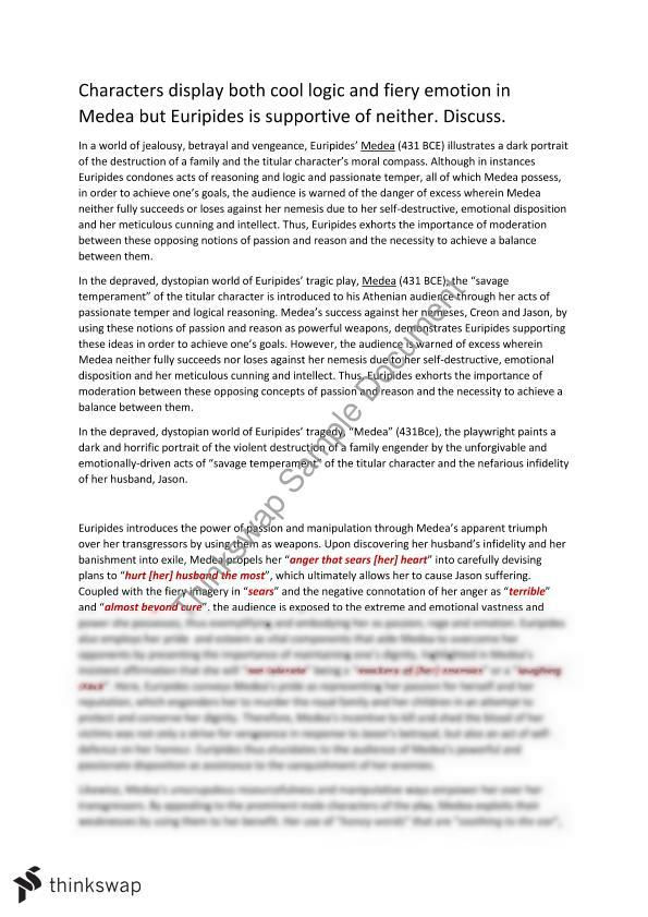 medea text response essay logic vs emotion year vce  medea text response essay logic vs emotion