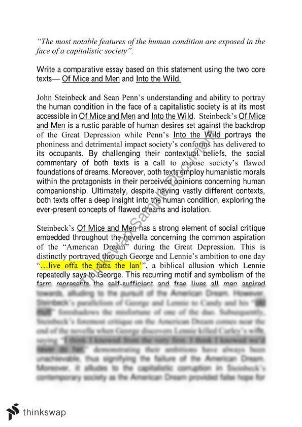 essay on of mice and men - Rent.interpretomics.co