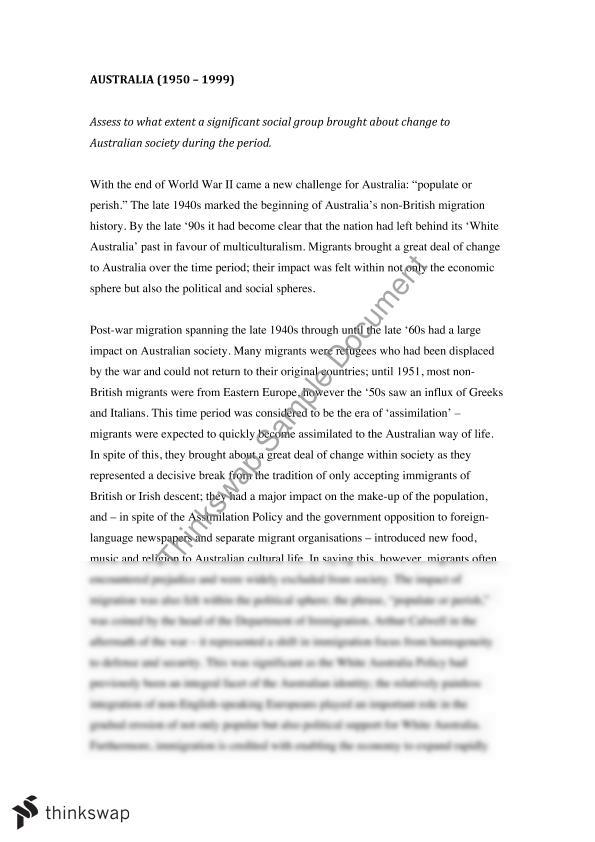 Essay on social change