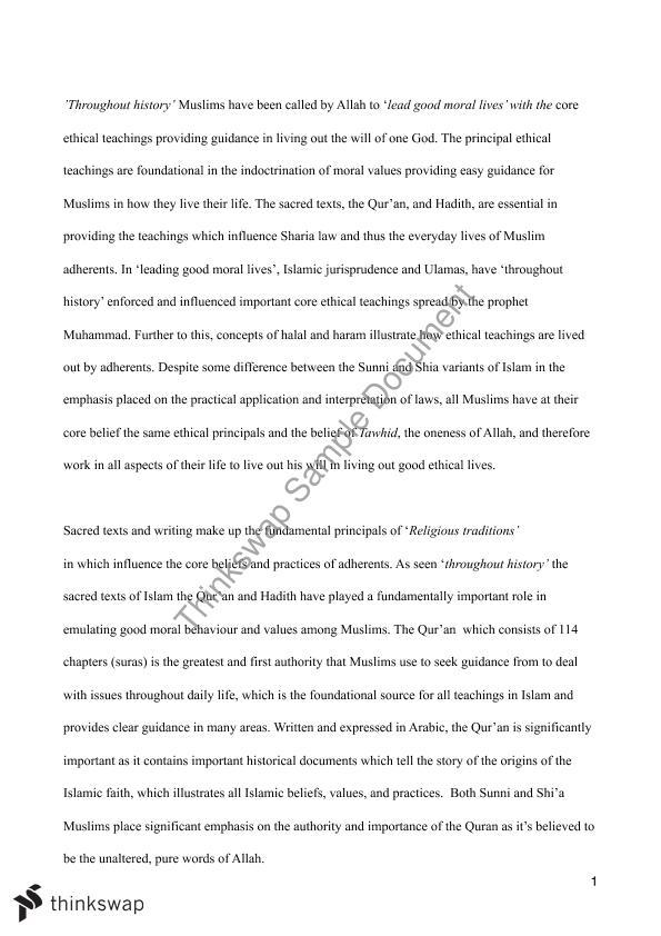 Islam Essay Studies Of Religion Ii Year 11 Hsc Thinkswap