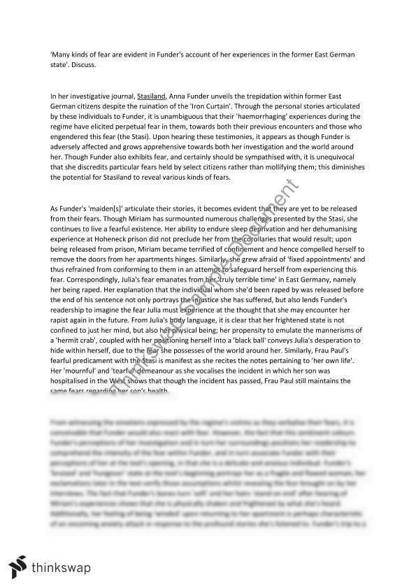 stasiland essay