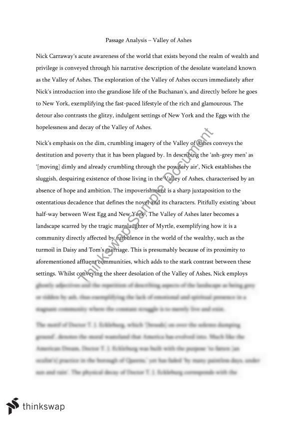 literary analysis essay examples great gatsby The great gatsby analytical essay english literature essay brianna santangelo mr labush the great gatsby analytical essay february 28, 2011 color and light in.