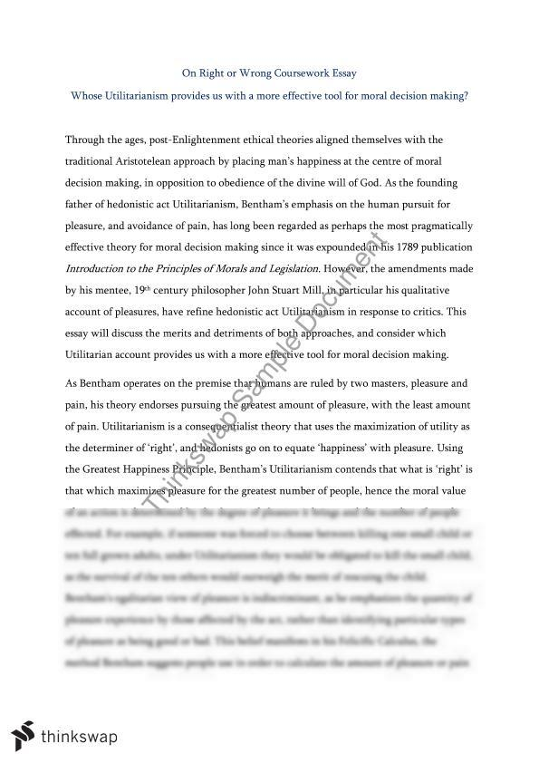 philosophy essay utilitarianism Philosophy essays: utilitarianism utilitarianism essay utilitarianism and over other 28,000+ free term papers, essays and research papers examples are available.
