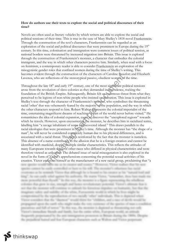 frankenstein and how to read literature essay
