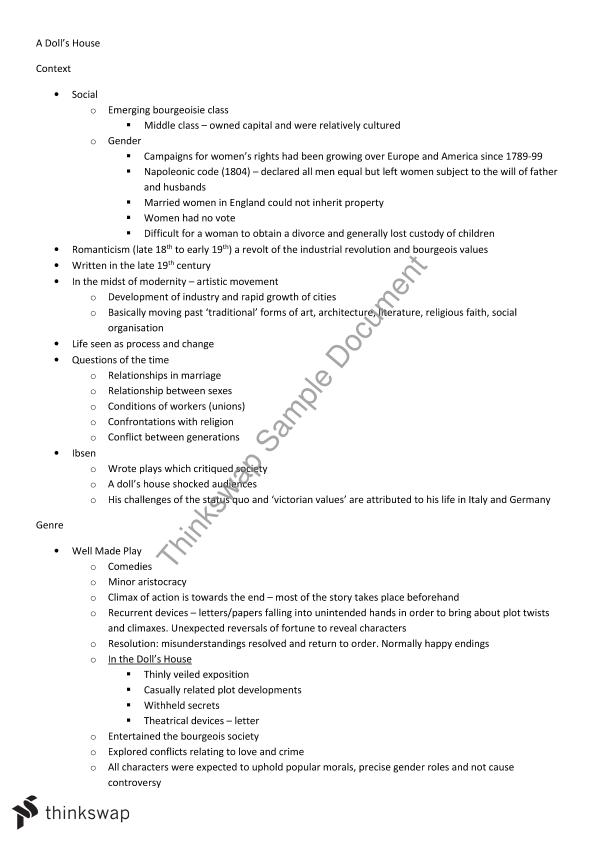 High School Application Essay Sample A Dolls House  Essay And Summary A Level English Essay also From Thesis To Essay Writing A Dolls House  Essay And Summary  Year  Wace  Literature  Essay Writing For High School Students