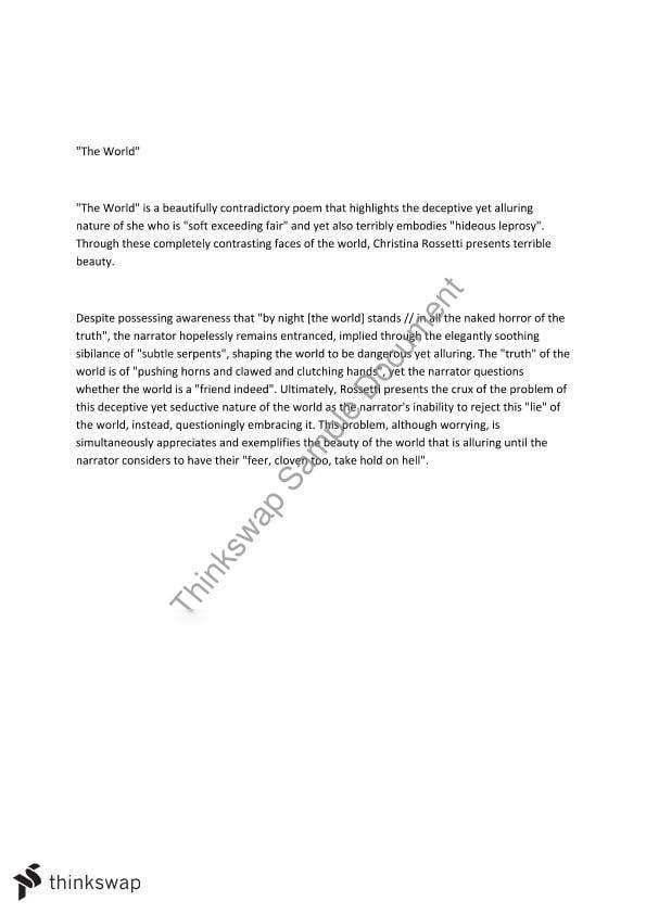 uphill by christina rossetti essay