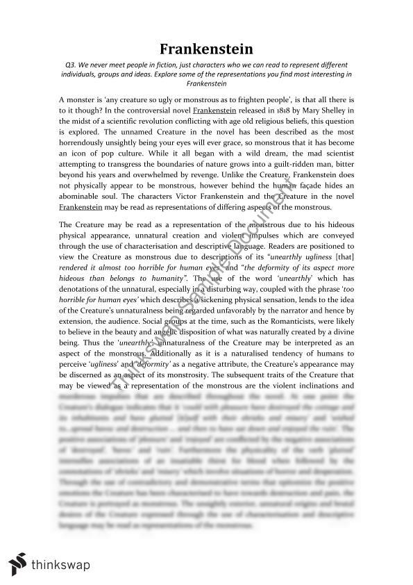Frankenstein Essay  Year  Wace  Literature  Thinkswap Extended Essay Topics English College Essays Online Frankenstein Essay  Year  Wace  Literature  Thinkswap My Biography Essay also Important Of English Language Essay