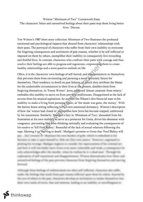 Tim winton minimum of two essays