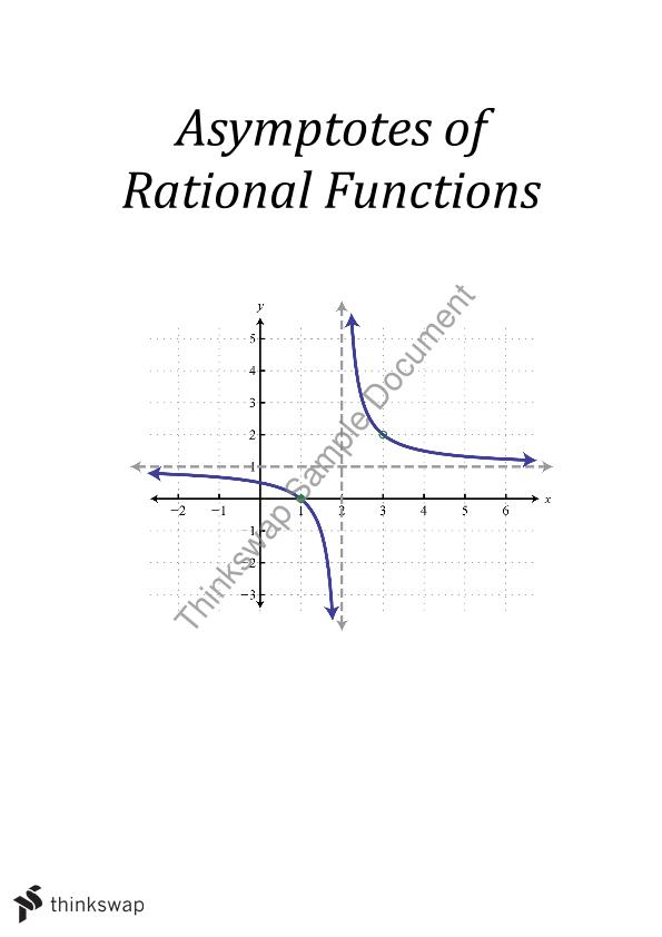 Relationship between the equation of a rational function and its asymptotes