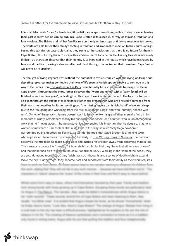 baderman island essay Im 305 baderman island week 1  are you looking for a custom essay service to accommodate your specific needswe have earned the reputation for being a leading.