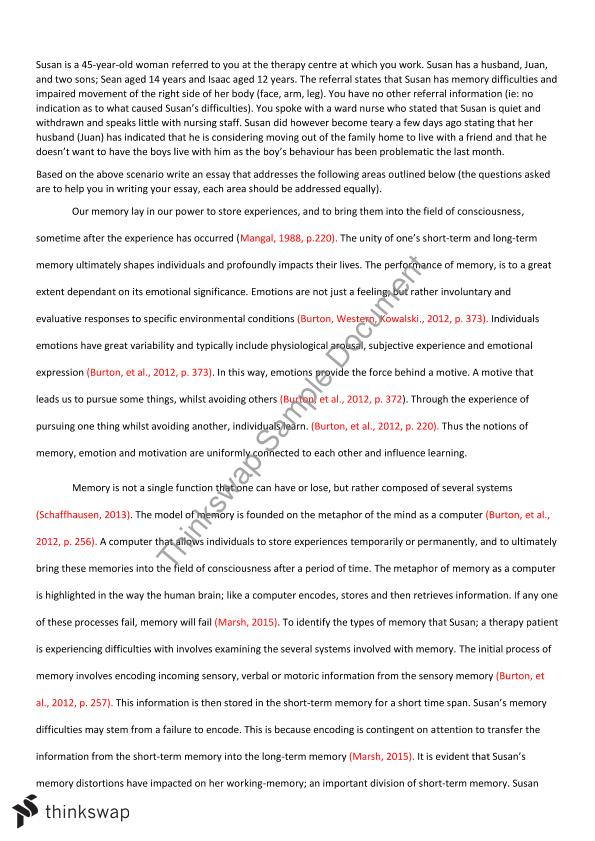 Psychology For Allied Health Essay  Alht  Psychology For Allied  Psychology For Allied Health Essay