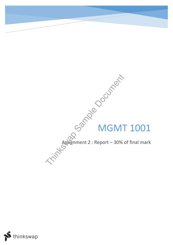 MGMT 1001 S1 2016 Business Course Outline