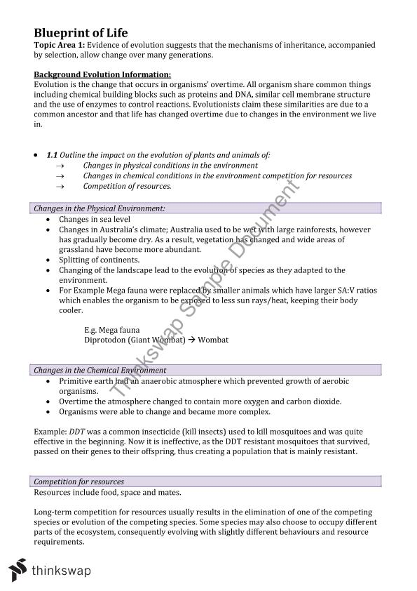 Biology blueprint of life complete study notes year 12 hsc biology blueprint of life complete study notes malvernweather Images
