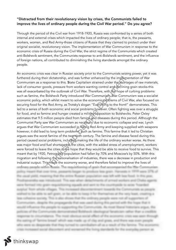 Russian Revolutions Essay  Year  Vce  History Revolutions  Russian Revolutions Essay