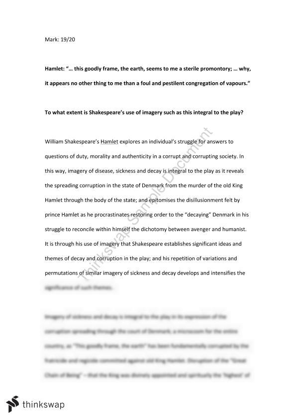 How To Write A High School Essay  Hamlet Essay On Imagery Of Disease Sickness And Decay Sample Argumentative Essay High School also Sample Essay For High School Students  Hamlet Essay On Imagery Of Disease Sickness And Decay  Year  Proposal Essay Topics Ideas