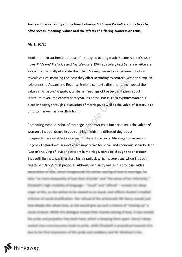 essays on pride and prejudice